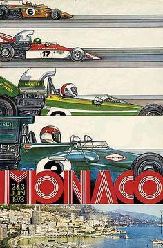 Grand Prix de Monaco 1973 Vintage Poster