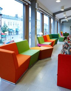 Area Straight Low-Back Modular Seating | ICF