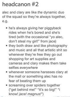 Alec and clary