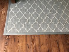 "Beautiful Rug with 3"" Wide Cotton Binding"