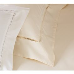 Ladder Stitch Cream Bed Linen. French Bedroom Company Bed Linen. Wedding gifts.