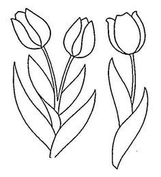 moldes de tulipa em patchwork 1