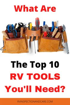 There is always something to fix on an RV. So having the right RV tools in your toolkit is very important. What are the top 10 RV tools that should be in every RVers bag? This video explains what you need! #rvtools #rvrepair #rvmaintenance