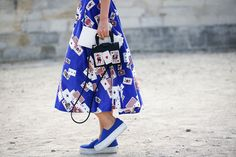 80 French Style Lessons To Learn Now #refinery29  http://www.refinery29.com/2014/10/75565/paris-street-style-photos-fashion-week-2014#slide-63  Do: Playfully coordinate.