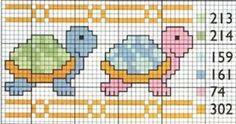 MEU CANTINHO PONTO CRUZ: Gráficos Tartarugas