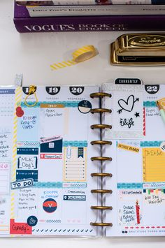 Plan With Me: January 2016 Weekly (Week 4) from @kristelpoole. The Happy Planner from Create 365, Me and My Big Ideas, Mambi #THP #Create365 #PlanWithMe kristelpoole.com
