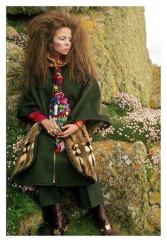 Beauty's Where You Find It — David Bailey - Penelope Tree Wearing a Dress by...