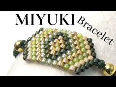 Miyuki Bracelet with Brick Stitch - Easy Technique for beginners - Eva Black Leather Choker, Leather Choker Necklace, Beaded Jewelry, Beaded Bracelets, Diy Jewelry, Jewelry Ideas, Jewelry Findings, Making Bracelets, Jewelry Model