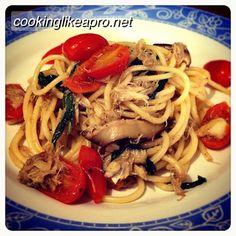 Cooking Crab Pasta with Basil  #cookcrab, #crabpasta, #pastawithbasil