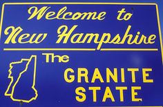 new hampshire state welcome signs | Stock Photo of new hampshire nh welcome sign granite state aj9402