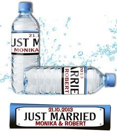 Weselne etykiety na wodę zrobią furorę podczas wesela oraz dzień po ;)