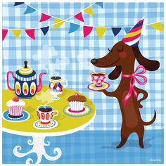 Pretty graphics - good idea for Birthday Party invites... love the colors!
