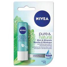 NIVEA Pure & Natural Mint & Minerals Lip Care