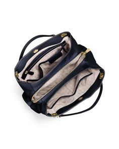 Jet Set Large Chain Shoulder Tote Bag, Navy