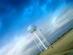 May 11, 2014 Storm clouds framing the water tower at the Rolla National Airport.