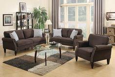Poundex Poundex 3-Pcs Sofa Set F6924