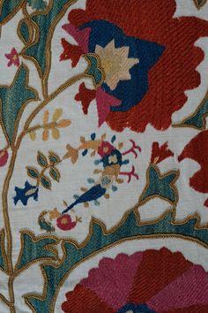 Bird Detail, Central Asian Susanis, Karun Collection