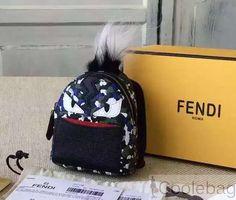 5ddbc68b06 Fendi Multicolor Bag Bugs Granite Print Backpack Charm