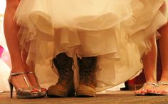 Bride surprises her husband in the Marine Corps by wearing his boots when he goes to take off her garter.