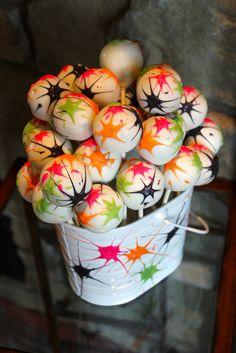 Paintball Splat Cake Pops by PetiteDelightsbyMichele, via Flickr