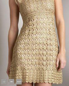 Especial vestidos de crochê com gráficos   Confira os modelos
