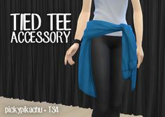 My Sims 4 Blog: Tied Tee Accessory for Teen - Elder Females