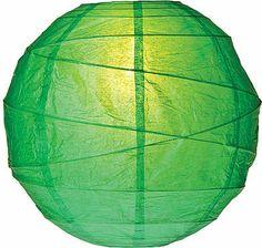 Kelly Green 10 Inch Round Premium Paper Lanterns