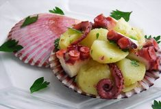 pressure cooked octopus and potato salad