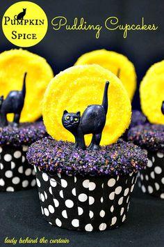 YUM!! Cute Cupcakes! Pumpkin Spice Pudding Cupcakes