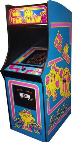 Ms.Pacman Arcade Game Cabinet