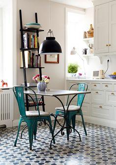 ladder, interior, tiles, floors, chairs