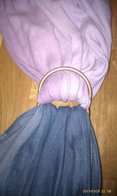 How to thread a no-sew ring sling. 2 methods, lots of good pics