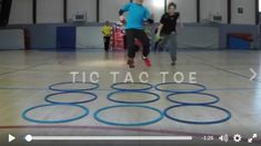 Great instant activity starter for PE with Tic Tac Toe Elementary Physical Education, Physical Education Activities, Elementary Pe, Pe Activities, Health And Physical Education, Team Building Activities, Gym Games, Bootcamp Games, Pe Lessons