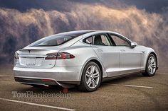 Tesla Model S in silver | Tom Blankenship | Flickr
