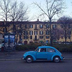 #newbettle #volskwagen #oldlife #colour #springtime #vintagecar #vintage #oldstyle #streetstyle #milan #parking #italy #tree #instacar #photoaday #photography #supercar #classiccar #oldtime by domingo_nardulli