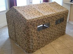 Obsessively Stitching: tent week - army bunker tent over kitchen table