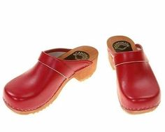 Wooden Clogs (red, black, purple, grey, yellow)