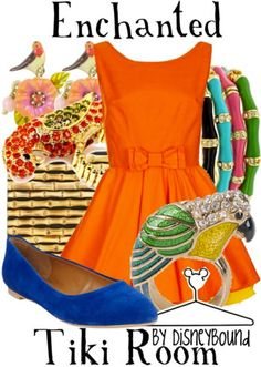 Enchanted Tiki Room by Disney Bound. Fashion Disney Outfit.