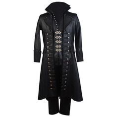 Amazon.com: Once Upon a Time Captain Hook Costume: Clothing ($119) ❤ liked on Polyvore featuring costumes, captain hook costume, once upon a time halloween costumes, hook costume, once upon a time and once upon a time costumes