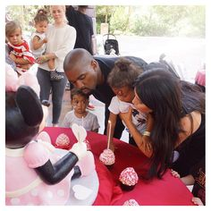 Pin for Later: Vanessa, Jessica, and Alyssa Shared Supercute Kiddo Photos This Week!  Kim Kardashian shared this family shot from North's second birthday party. Happy birthday, North West!