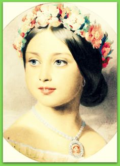 Young Princess Victoria, daughter of Queen Victoria and Prince Albert. B/W print Colourised by Pearse.