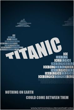 the title of the film looking like it is sinking is complimentary to the film and reinforcesd thant it is titanic the movie.