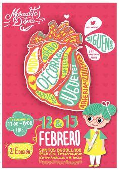 Cartel del Mercadito de Diseño 2 Edición