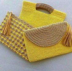"""New Cheap Bags. The location where building and construction meets style, beaded crochet is the act of using beads to decorate crocheted products. """"Crochet"""" is derived fro Crochet Clutch Bags, Crochet Handbags, Crochet Purses, Crochet Bags, Crochet Shell Stitch, Crochet Stitches, Crochet Designs, Crochet Patterns, Purse Patterns"""