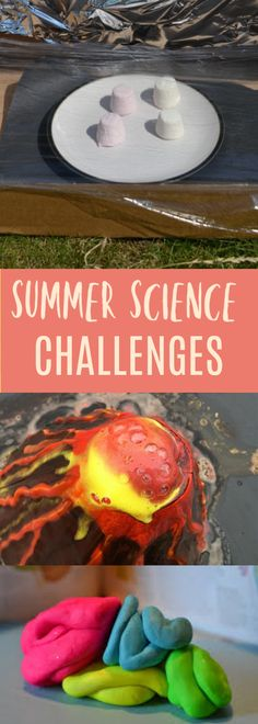 Easy summer science challenges for kids. Make a solar oven, a model brain, find rainbows in bubbles, make a lava lamp, an outdoor kitchen and lots more fun summer science challenges - Kids education and learning acts Science Activities For Kids, Preschool Science, Science Projects, Science Ideas, Science Crafts, Nature Activities, Cool Science Experiments, Stem Science, Easy Science