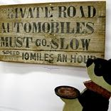 love this weathered sign
