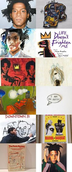 Jean Michel Basquiat  by Angie M. on Etsy--Pinned with TreasuryPin.com