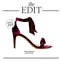 """""""The Edit: Alexandre Birman Velvet Sandals"""" by polyvore-editorial ❤ liked on Polyvore featuring Alexandre Birman and theedit"""