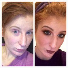 Before & after of a kim K/kylie Jenner infused look!  #kimK #makeup #makeupartist