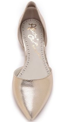 love these metallic flats!
